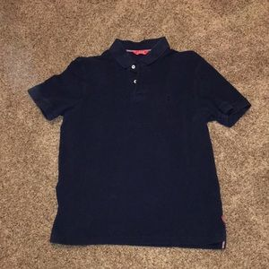 Navy Blue Izod Short Sleeve Polo